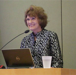 Dr. Barbara Drew speaking at 2014 NINR Director's Lecture