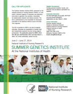 Summer Genetics Institute Flyer