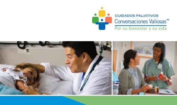 Spanish Pediatric Palliative Care brochure cover