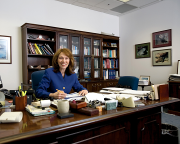 Dr. Grady at desk