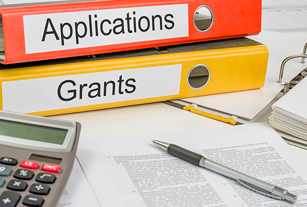 binder of grants and applications
