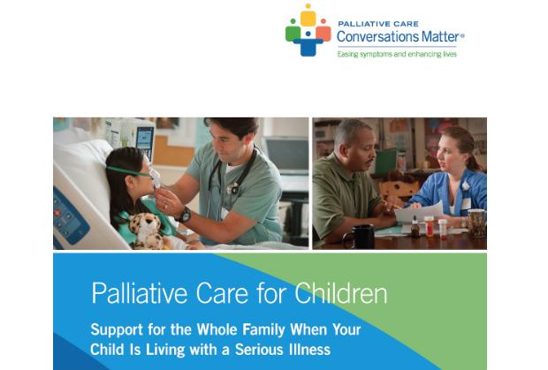 Cover of Pediatric Palliative Care Brochure