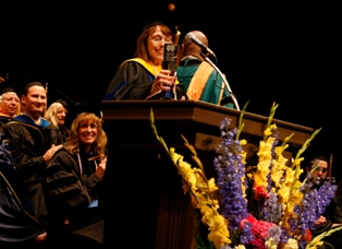 NINR Director Dr. Patricia A. Grady receives the Sterling Award from the UCLA School of Nursing.